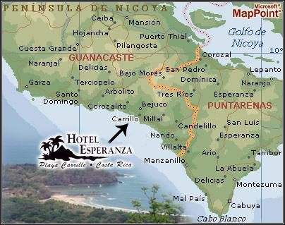 Costa Rica Hotel Location